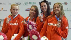 Két arany, egy bronz az EYOF első versenynapján az úszóleányoktól